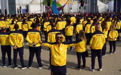 Daniel Dias comenta dicas que compartilhará com o Leomon Moreno, o porta-bandeira do Brasil em Lima 2019